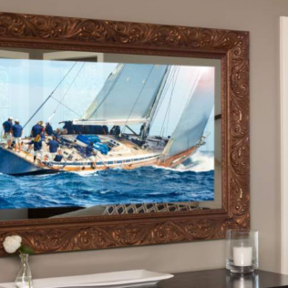 entertainment TV mirror installation in BOSTON, THE SOUTH SHORE, CAPE COD, MARTHA'S VINEYARD, AND NANTUCKET